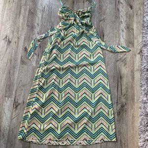 Bright geometric maxi dress. Size small